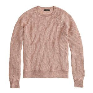 J Crew Metallic Sweater Rose Gold Sparkly Shimmery
